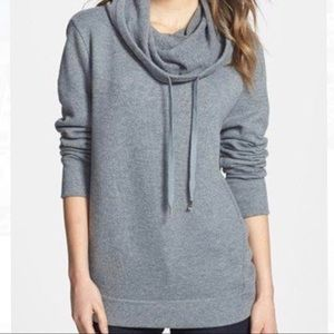 STEM Cowl Neck Hoodie Sweater (Small) Gray